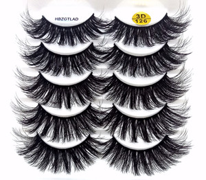 2019 NEW 5 pairs 100% Real Mink Eyelashes 3D Natural False Eyelashes Mink Lashes Soft Eyelash Extension Makeup Kit Cilios