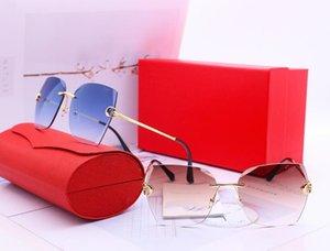 Fashion pearl Designer Sunglasses High Quality Brand Polarized lens Sun glasses Eyewear For Women eyeglasses metal frame 5 color