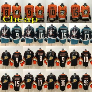 Costurada 2020 Anaheim Ducks # 10 Corey Perry Hockey Jerseys Laranja 9 Paul Kariya 8 Preto Teemu Selanne 15 Ryan Getzlaf 17 Ryan Kesler Jerseys