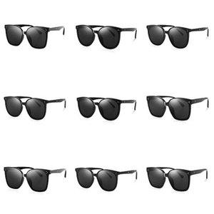 ALOZ MICC nuove donne di modo rivetta gli occhiali da sole Vintage 2020 Piazza design di lusso di nuova marca specchio di vetro di Sun Shades UV400 A151 # 310