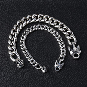 925 Sterling silver jewelry designer hand-made heavy curb links bracelet designed with unique closure clasp 3 SIZES (9MM 14MM 17MM) FOR MEN