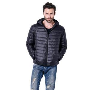 Moda Erkekler Hafif Aşağı Ceket Essentials Yumuşak Isınma Suya Dayanıklı Packable Puffer Ceket Katı Renk Ceket Dış Giyim