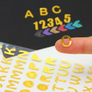 Gilded Letter Sticker Number Sticker Hot Stamping Letter and Number Stickers - DIY Gift Hand Account Photo Frame Album Decoration Sticker