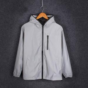 bola de Moda de Nova Reflective Noite Segurança equitação Jacket Partido fábrica casaco traje Para o transporte Homens e mulheres livres