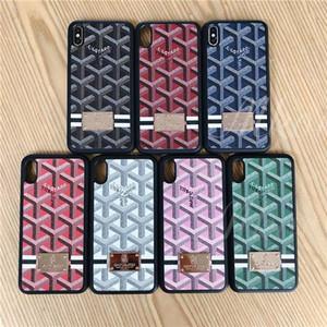 7 farben buchstaben druck telefon case für iphone x xs max xr tpu pu rückenschutz case abdeckung für iphone8 8 plus 7 7 plus 8 6 6 s plus metall logo