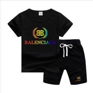 BLSG Weizenspitze Logo Designer Luxus-Kinder Satz-Baby-Jungen und Mädchen Baby-Kind-Junge Designerkleidung 2Pcs / set Baumwolle Sommer Short-Sets