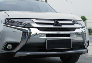 جودة عالية ABS الكروم شواء سيارة غطاء الديكور، والجبهة الوفير غطاء الحماية لميتسوبيشي أوتلاندر 2016-2018