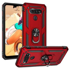 Per LG Stylo 6 K51 K31 K41S Aristo 5 Moto G Stylus Veloce Alimentazione E 2020 E7 poco costoso ibrida Kickstand caso dell'anello protegge la copertura di Metro Boost Mobile