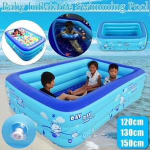 120 130 150cm Children Bathing Tub Baby Home Use Paddling Pool Inflatable Square Swimming Pool Kids Inflatable Freeshipping