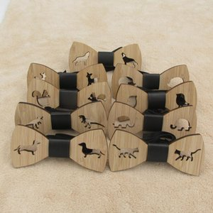Nova Chegada de madeira Wear Handmade de madeira de bambu borboleta Bow Tie Party For laços Neck Wedding Tie