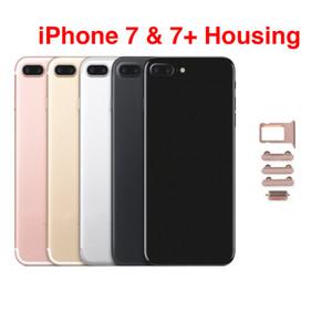 10Pcs für iphone 7 Plus-Gehäusemittel Chassis Rahmen Hintertür Batterieabdeckungs-Fall-Wiedereinbau mit Sim-Karte IMEI-Batterie-Abdeckung