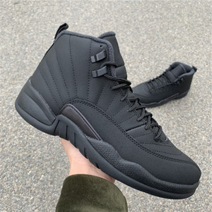 Hot Sale 12 Winterized Black Black Anthracite Designer Sneakers Brand New XII Comfort Real Carbon Fiber Fashion Trainers With Original Box
