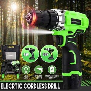 12V tournevis électrique sans fil électrique Mini Drill au lithium-ion à pile rechargeable outils électriques 2 vitesses