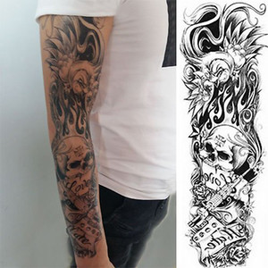 1 шт. Momento Mori временная татуировка стикер фламинго скелет полная цветочная татуировка с боди-артом большой большой поддельные татуировки