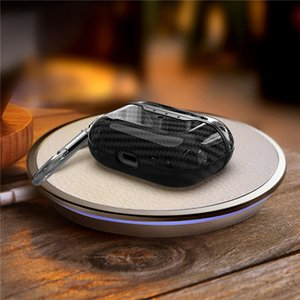 For Airpods 3 For Airpods Pro Case Luxury Fibre TPU Cover With Anti Lost Hook Clasp Keychain