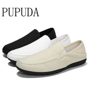 PUPUDA Men Casual Shoes Fashion Breathable Summer Shoes For Men Trend Slip On New Loafers Espadrille Sneakers Male 2019