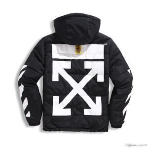 casuales de la chaqueta con capucha de la venta caliente de flecha brazos 2019 de otoño e invierno de los hombres de rayas capa gruesa de algodón de alta calidad