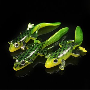 Fishing Artificial Giant Salamander Soft Lure Bait Lizard Silicon Baits 7.5cm 3g 2017 Hot Sale