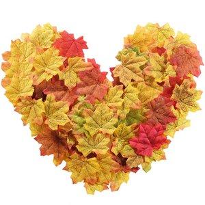 Ação de Graças Acessórios Party Decoration Artificial Maple Leaves Silk 8 * 8 centímetros 100pcs / 200pcs / 300pcs