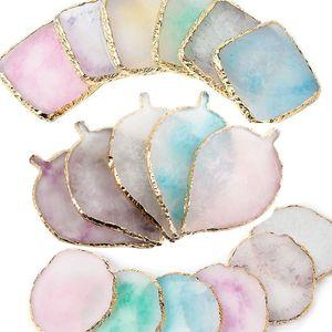 Natural resina Agata Nail Art mensola di esposizione consiglio Nail Color Paint Palette Holder Disegno per manicure display Mixing Tools