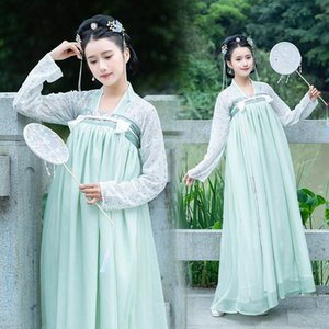 2019 Photo Shoot New Style Chinese Clothing Immortal Princess Xian Qi Antique Style Chest-high Dress Small Floral Fresh And Eleg