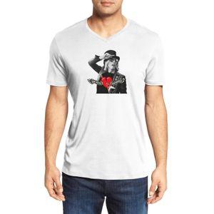 Herren Tom Petty RED HAT HERZ Art und Weise V-Ausschnitt T-Shirt-Design Sport-Baumwollhemd nette kurze Hülse Tom Petty 1989 Strange Behaviour Tour