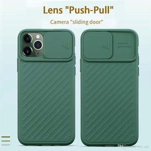 Slide Camera Lens Protector For designer phone cases luxury phone cases iphone 11 X XR XS 6 7 8Plus Matte Back Cover coque iphone 11