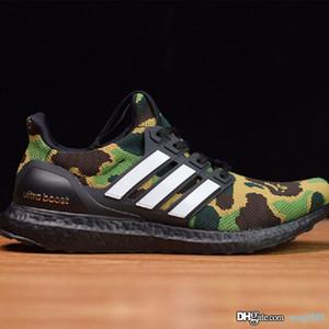 Scarpe di lusso di sport scarpe da tennis degli uomini del progettista scarpe UB AAPE Silver Metallic Unisex Donna Primeknit formatori con sicurezza scarpe da tennis correnti Sh