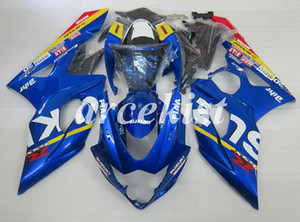 4 Gifts New ABS motorcycle Full Fairings Kits Fit For Suzuki GSX-R1000 K5 2005 2006 05 06 bodywork set custom Free Blue add Tank cover