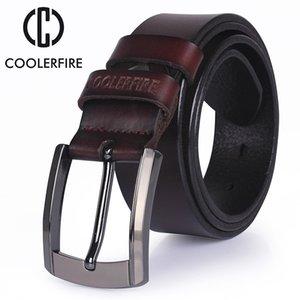 Cinturón de cuero genuino de alta calidad Cinturones de diseño de lujo de los hombres de piel de vaca Correa Jeans masculinos para hombre vaquero envío gratis C19041101