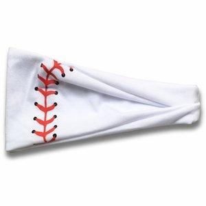 20style beisebol hairband Softball Sports Sweat Bola Headbands Yoga fitness Scarf Esporte Hairbow Mulheres Homens equipa de futebol Faixa de Cabelo GGA3404-3