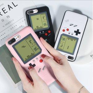 Retro gb gameboy tetris casos de telefone para o iphone 6 6 s 7 8 além de tpu macio pode jogar console do jogo blokus capa para iphone x xs xr max