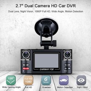 Universal 2,7 pouces 720P voiture DVR caméra vidéo HD enregistreur de conduite double tableau de bord du véhicule Objectif Cam Corder Avec G-capteur