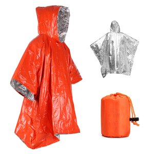 Orange Emergency Raincoat Aluminum Film Disposable Poncho Cold Insulation Rainwear