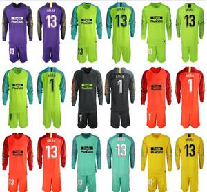 2019 2020 MEN largo # 13 Oblak Portero kit jerseys Adan fútbol Establece 13 Jan Oblak 1 # Adan jerseys del fútbol del portero adultos Conjuntos uniformes