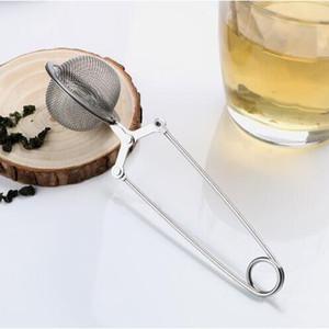 Tea Infuser 304 in acciaio inox Sfera del tè del setaccio della maglia Caffè Herb Spice Filtro diffusore maniglia tè della sfera della cucina Drinkware YP401