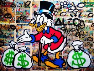 Alec Tekel Özet Graffiti sanatı Sn Scrooge Ev Dekorasyonu Handpainted HD Yağ Tuval Wall Art Canvas Pictures 200130 On Boyama yazdır