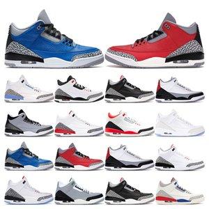 2020 sapatos de homens novos de basquete Varsity Real Fire Red Cimento UNC KATRINA Preto TINKER Grateful LANCE LIVRE Sports Sneaker tamanho 7-13