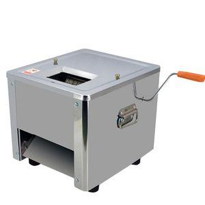 BEIJAMEI Handelsfleischschneidemaschine 850 Watt Elektrische Manuelle Fisch Rindfleisch Schweinefleisch Cutter Desktop Fleisch Slicer Dicing Maschine