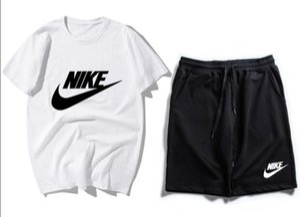 Yeni Gelenler Yaz Erkek eşofman kısa kollu T-shirt ve şort rahat hoodies spor takım elbise spor seti erkek Yuvarlak boyun Spor ODRFESW t99