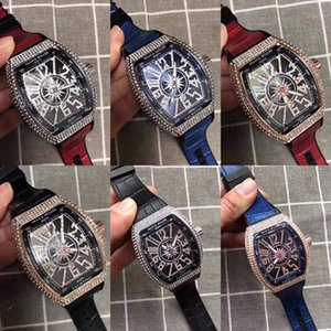 Verkauf FM Vanguard Yachting V45 Spitzenmarken-Männer Luxus-Uhren Mode-Qualitäts-Leder-Quarz-Uhr für Mann-beiläufige Kleid-Armbanduhr