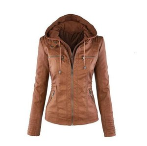 Hot autumn and winter women learn coat stitching motorcycle leather coat short section PU big size 3XL -7XL