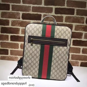 Celebrity Letter Embossed Green Belt Canvas Leather Backpack Man Woman 478324 Travel Bag