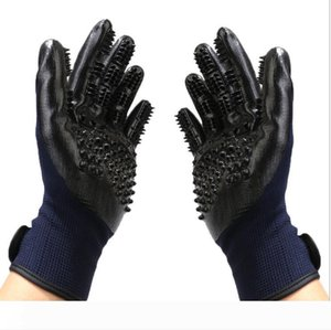 Pet Gloves For Dog Cats Animals Pet Top Quality Grooming Gloves Dog Cat Hair Cleaning Brush Comb Black Rubber Five Fingers Deshedding