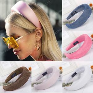 Gruesa esponja sedoso Hairbands Las vendas para las mujeres de chicas bandas para la cabeza Bandas manera de Headwear del aro del pelo Accesorios