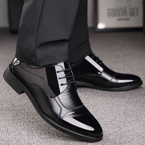 Business OXford Shoes Men Breathable Leather Shoes Rubber Formal Dress Male Office Party Wedding Mocassins