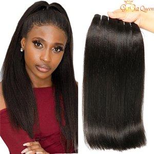 8A Yaki droite péruvienne Non traité Cheveux Tissages 3 ou 4 pièces Lot Kinky droite Yaki humaine Hair Extensions Double Trame