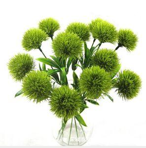 Único tronco dandelion flores artificiais dandelion flor de plástico decorações de casamento comprimento cerca de 25 cm mesa de centro