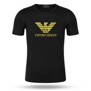 Summer men's women's T-shirt letters breathable short sleeve men's shirt solid color T-shirt wholesale