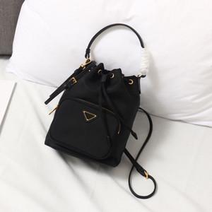 Mini Bucket Bag Borse borsa di corda alla moda solido-colore in pelle a tracolla coulisse Satchel di buona qualità removibile di trasporto
